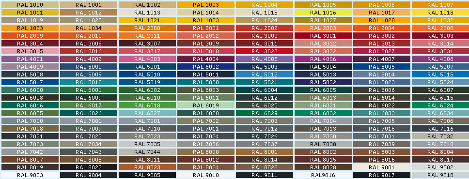 culori RAL - finisaje lemn - BIO Ferestre si Usi