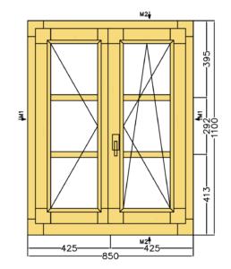 fereastra cu sprosuri lemn