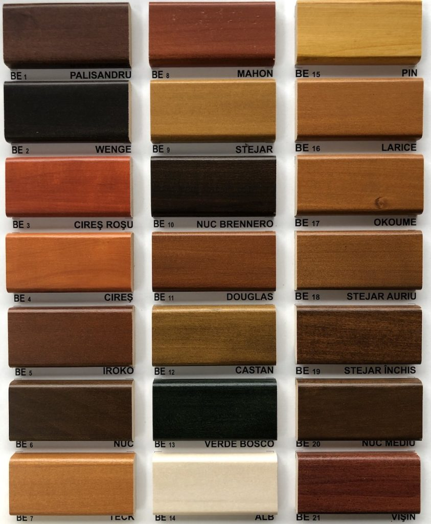 paletar culori - finisaje lemn - BIO Ferestre si Usi